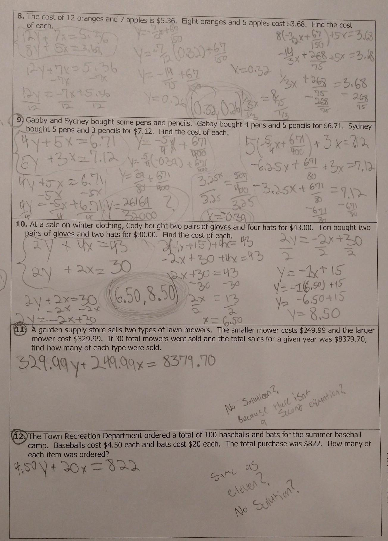 Please Help Need Someone To Check My Answers For If Anything