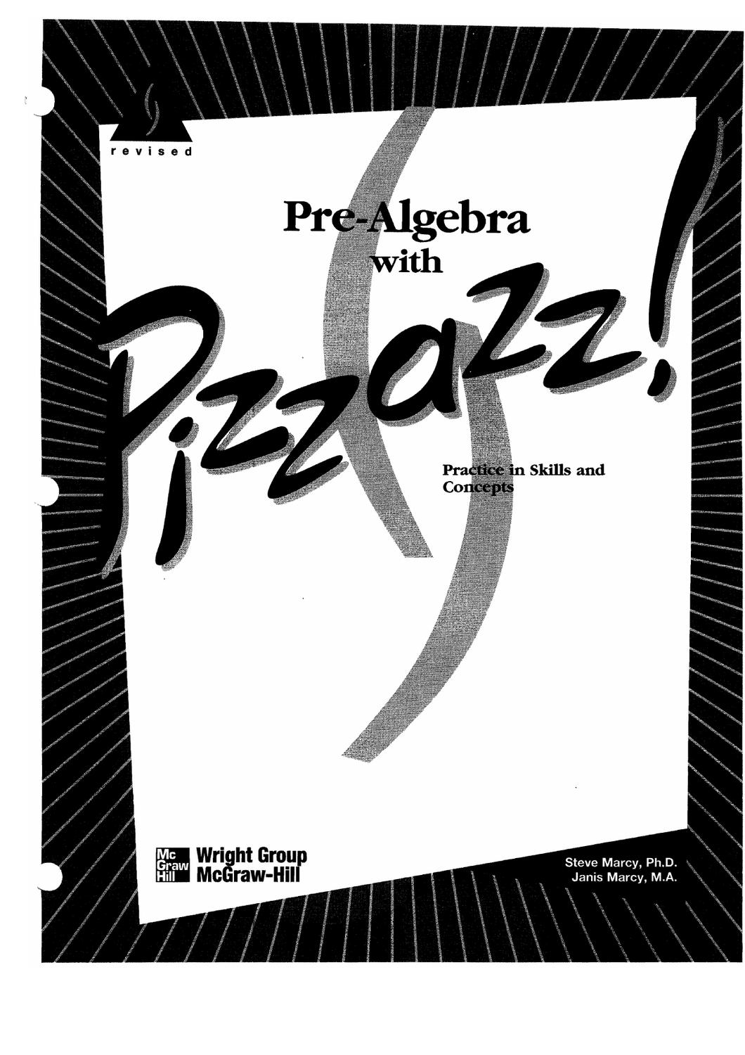 Prealgebra With Pizzazz Ebookdenise Russell - Issuu