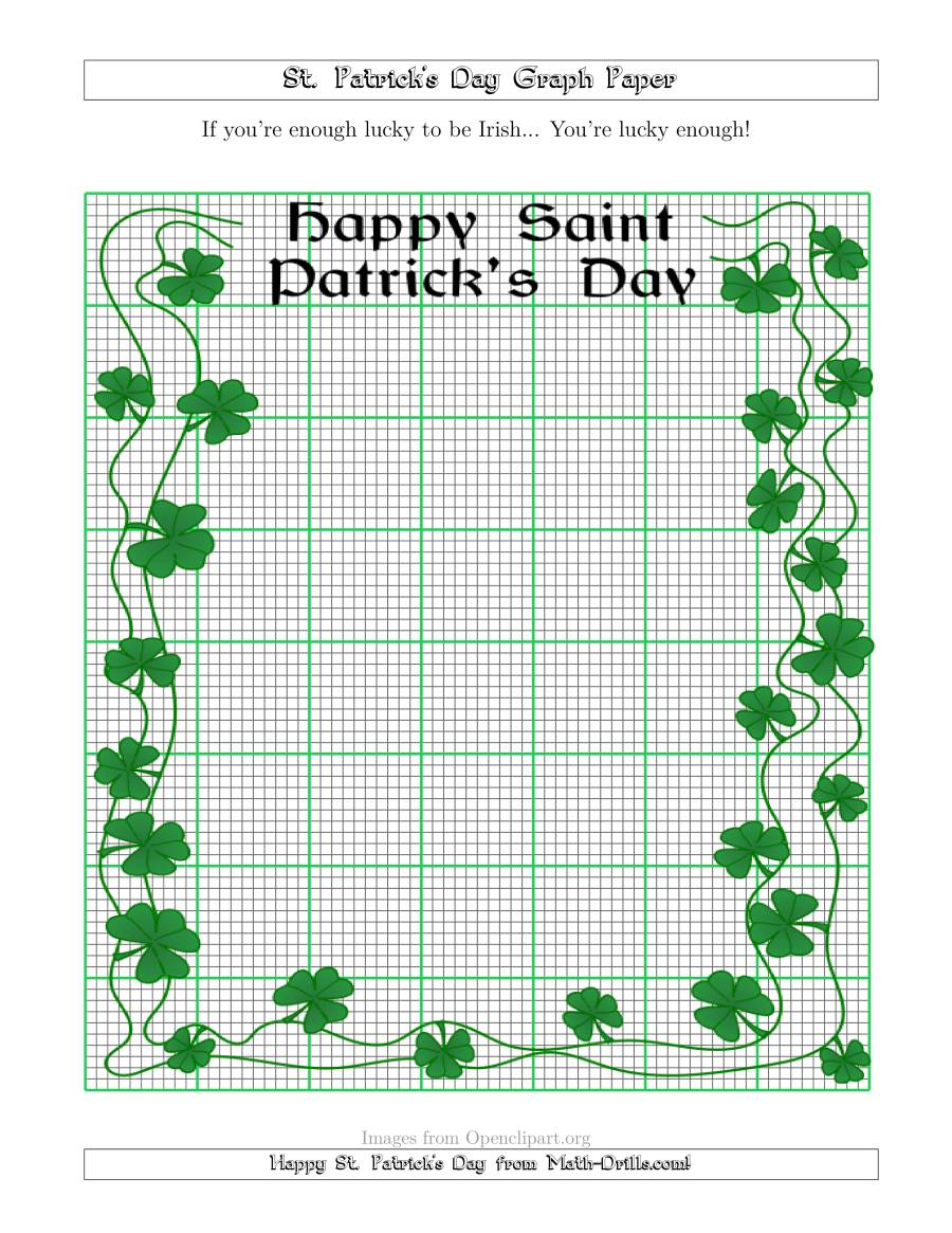 St. Patrick's Day Graph Paper 10 Lines Per Inch With A Fancy