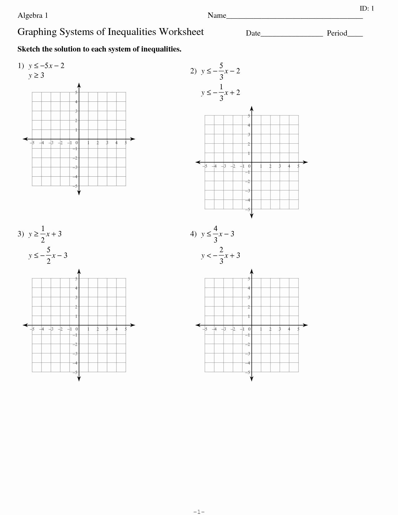 Systems Of Equations Substitution Method Worksheet Answers