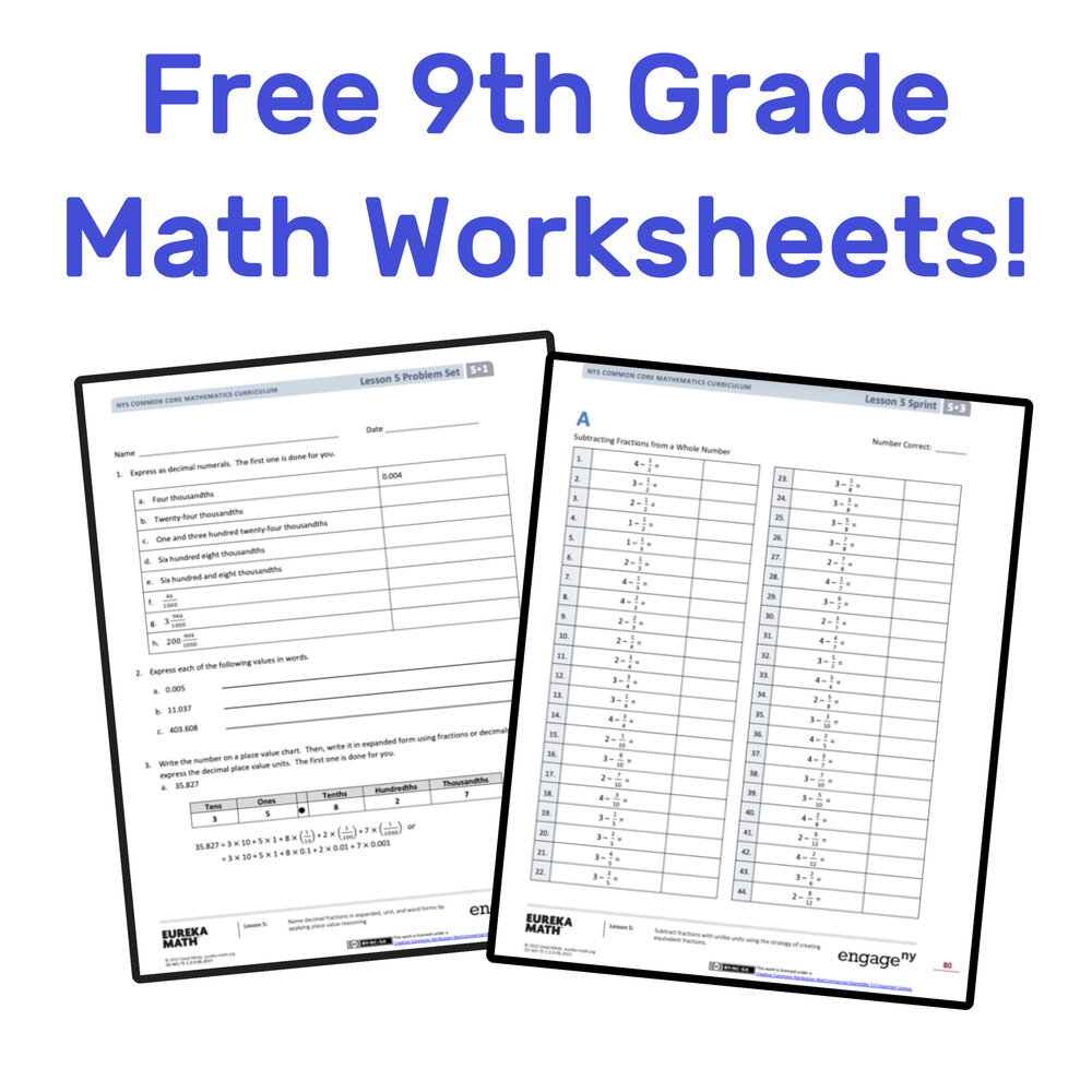 The Best Free 9Th Grade Math Resources: Complete List