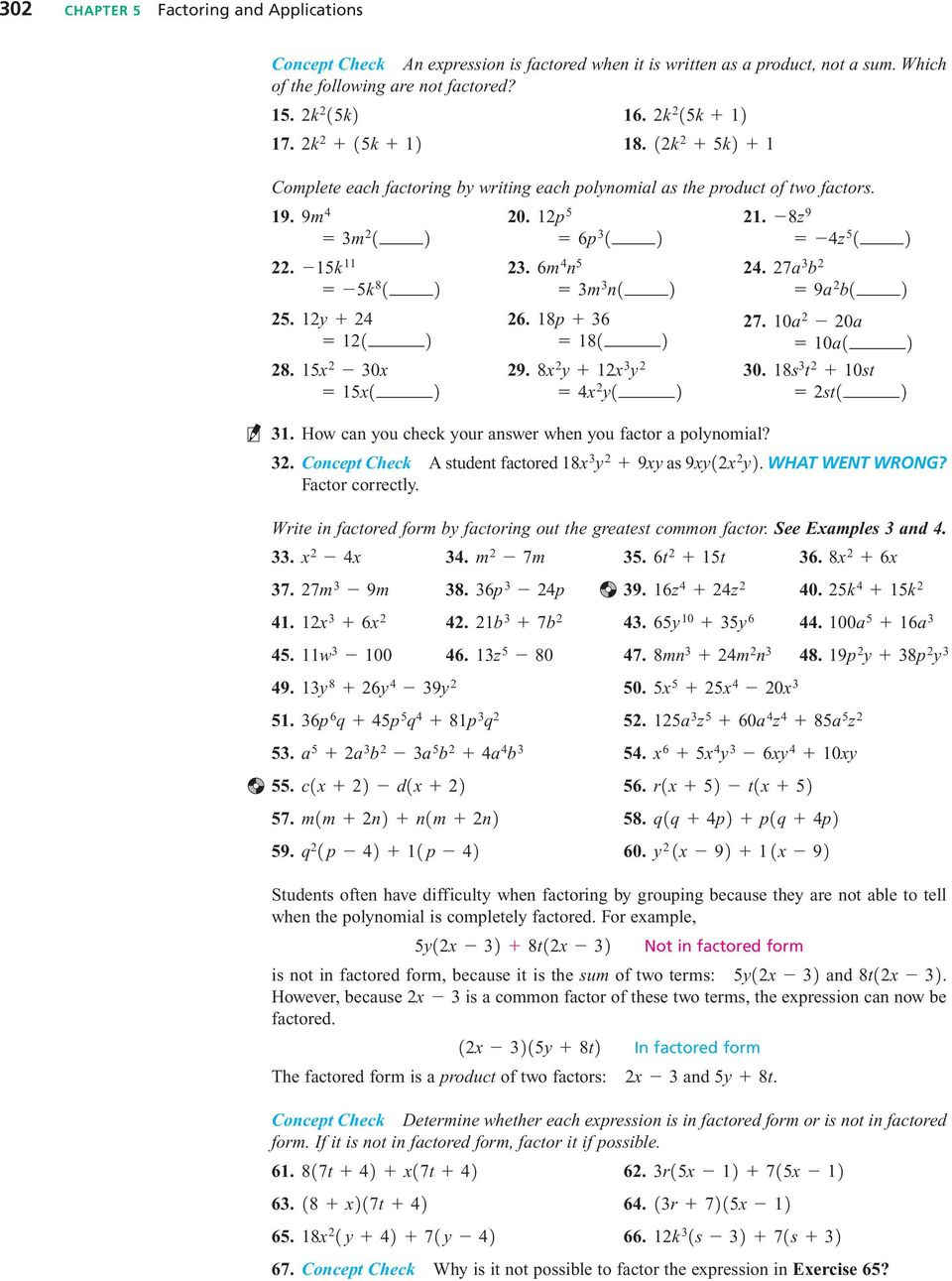 The Greatest Common Factor; Factoringgrouping - Pdf Free