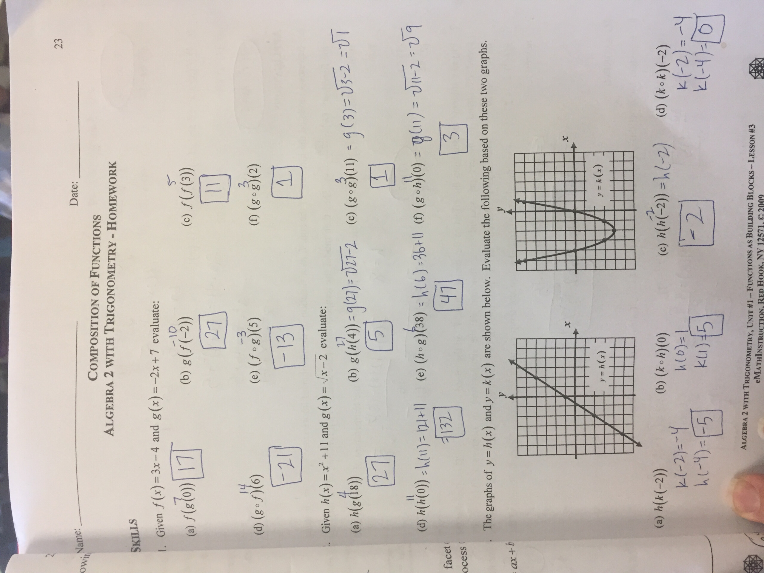 Unit 1: Functions - Lizzy's Classroom