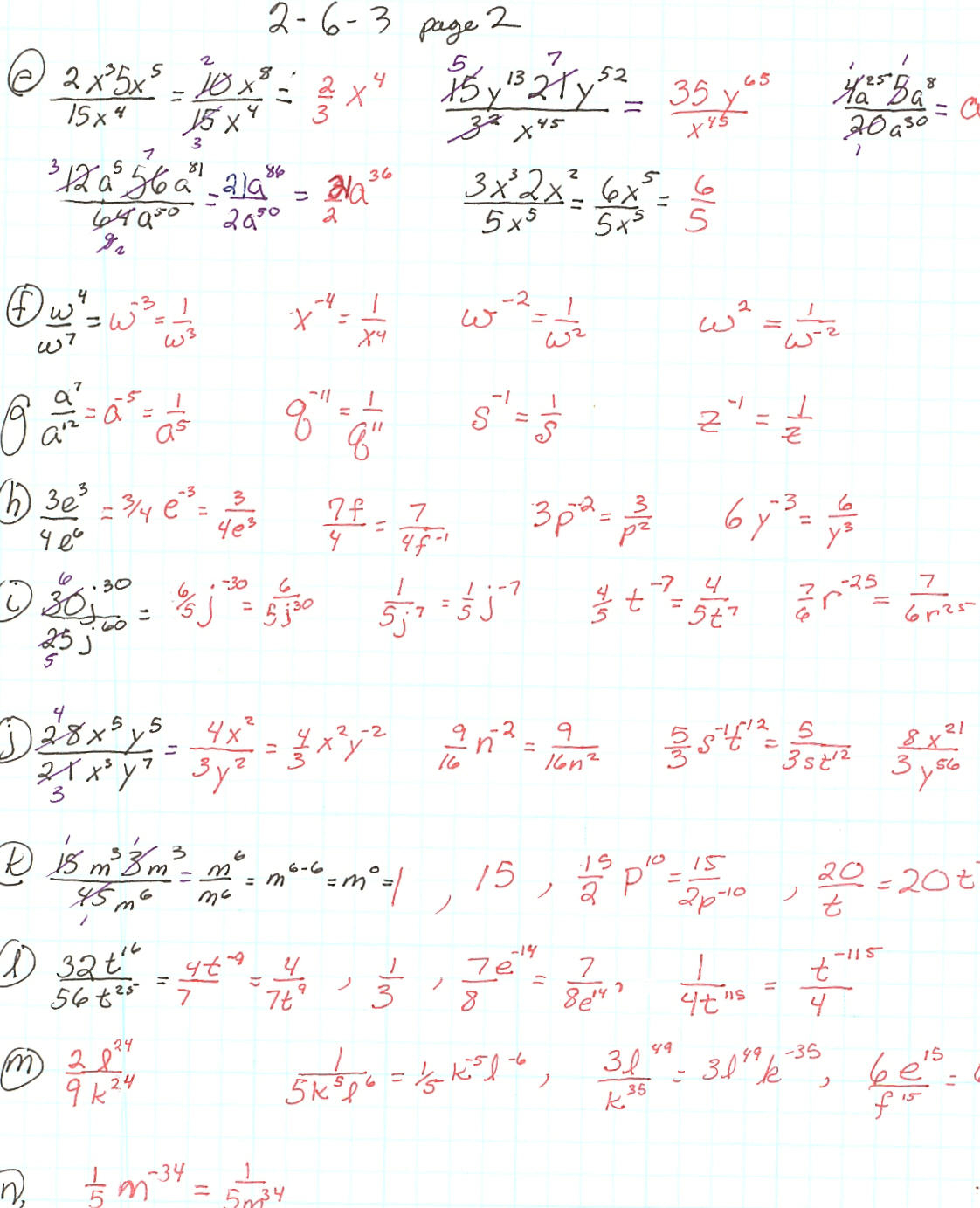 Unit 7 Exponent Rules Worksheet 2 | Kids Activities