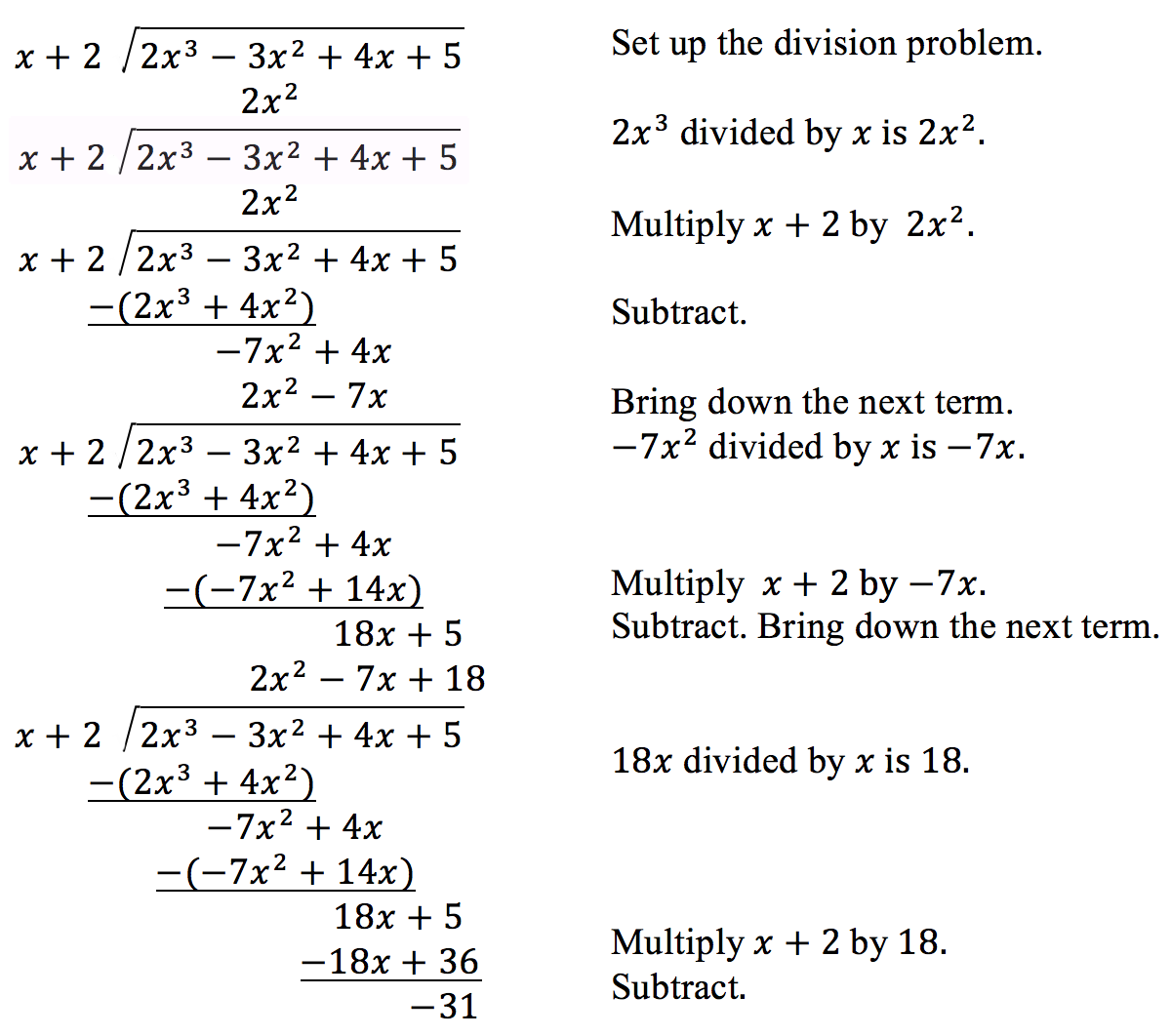 Use Long Division To Divide Polynomials | College Algebra