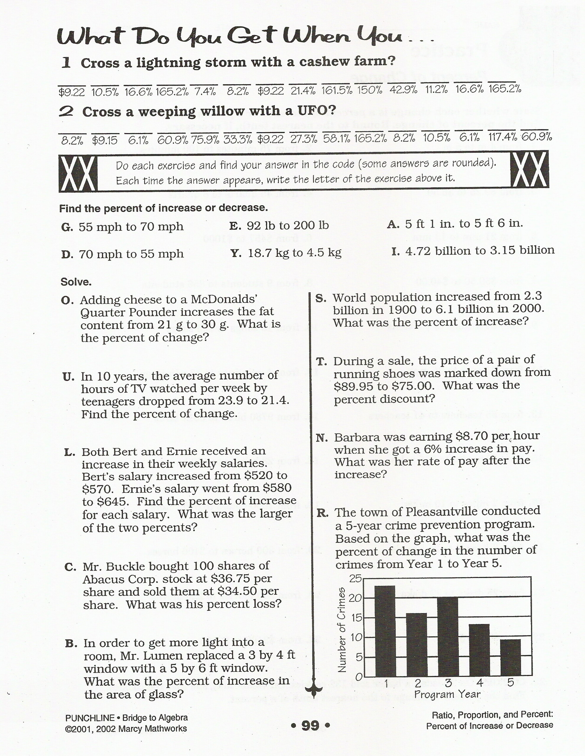 What Do You Get When You Cross Math Worksheet