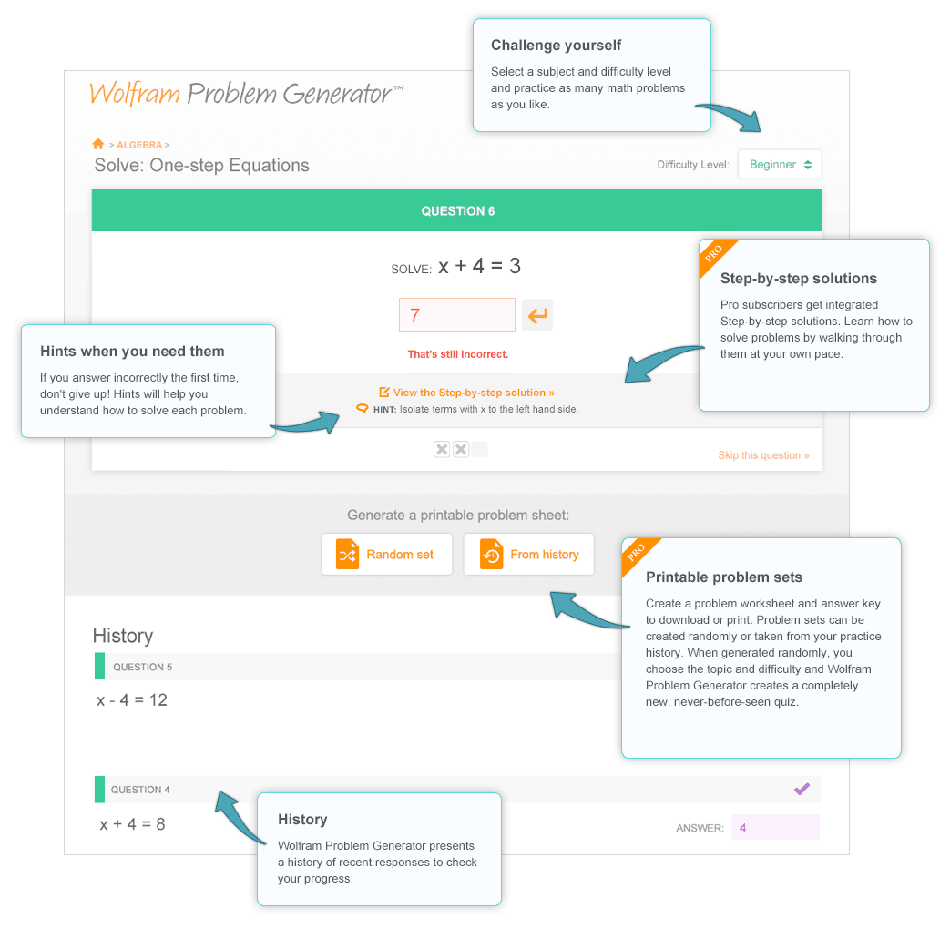 Wolfram Problem Generator: Online Practice Questions & Answers