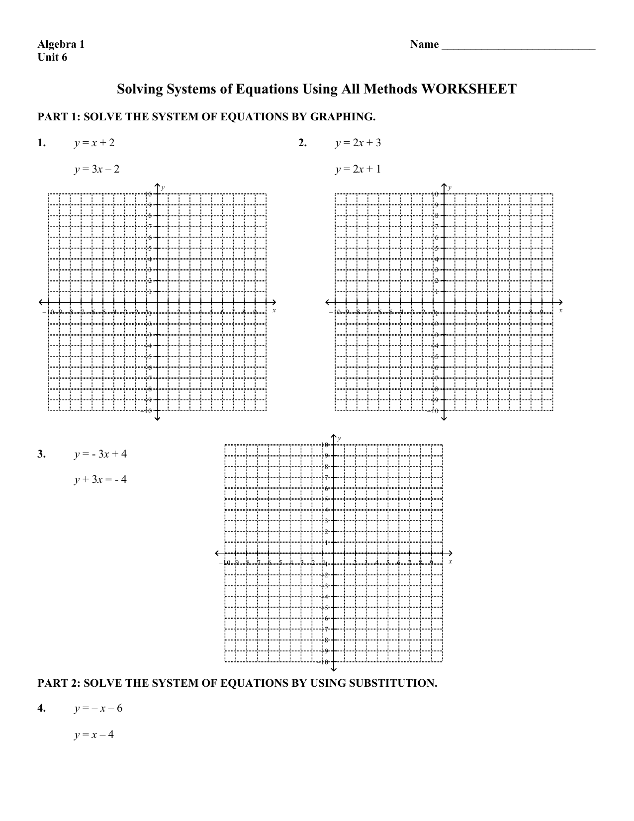 Worksheet Answer Keys Mathconceptualized   Graphing