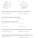 Writing Linear Equations Worksheet Answers With Work