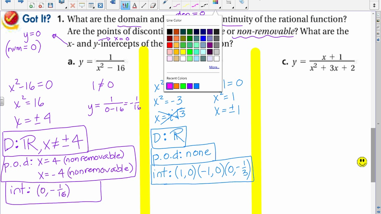 8 3 Graphing Rational Functions – Cute766