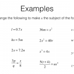 A5A – Rearranging Formulas To Change The Subject – Bossmaths