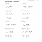 Adding Andting Rational Expressions Worksheet With Answers