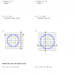 Algebra 2 - Conic Sections Circles Wkst+Study Guide