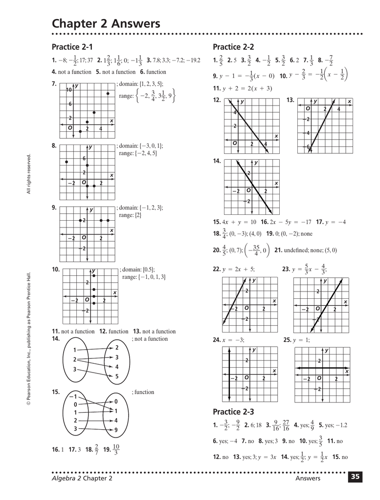 Chapter 2 Answers Practice 2-1 Practice 2-2 1.