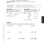 Chapter 7-2 Handout From The Algebra Book Answers