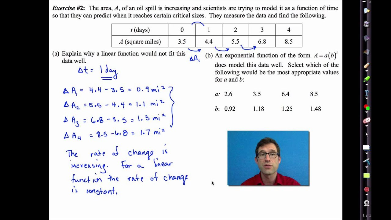 Common Core Algebra I.unit #11.lesson #4.another Look At Linear And  Exponential Models