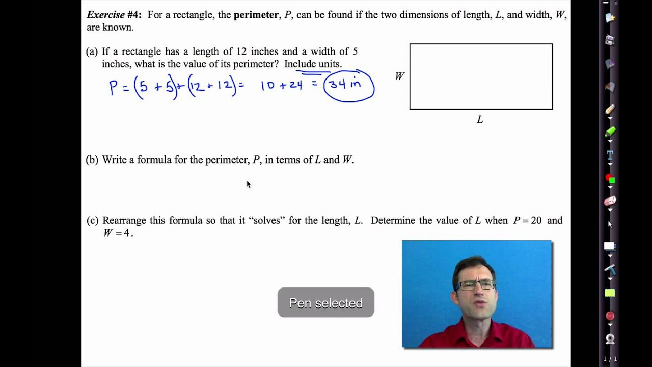 Common Core Algebra I.unit #2.lesson #7.solving Equations With Unspecified  Constants
