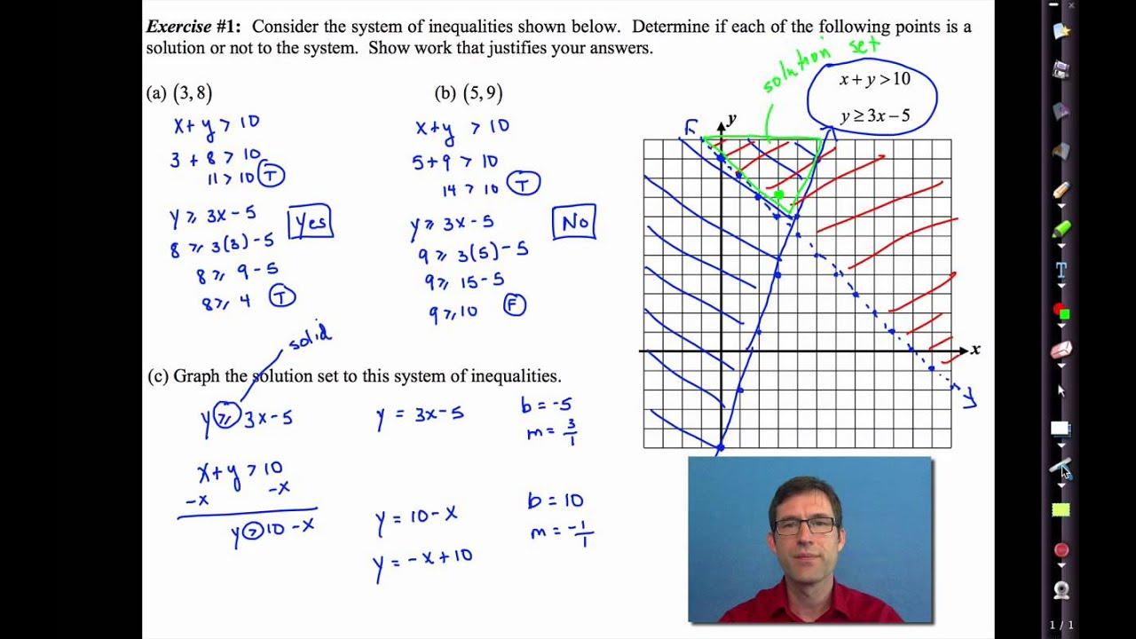 Common Core Algebra I.unit #5.lesson #7.solving Systems Of Inequalities