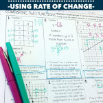 Comparing Two Functionsrate Of Change Practice Worksheet