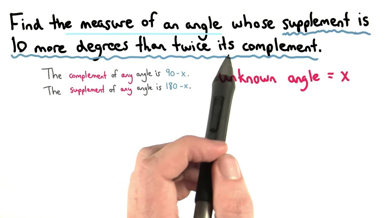 Complement And Supplement Equation - Visualizing Algebra