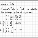 Cramer's Rule Example 3X3 - Linear Algebra Example Problems