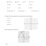 Functions And Function Notation Worksheet Answers
