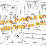 Functions, Domain & Range, Function Notation Practice In