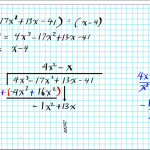 How To Divide Polynomialslong Division Algebra 2 Common Core 3-3 Linear