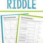 Linear Regression Riddle Activity   Linear Regression