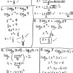 Logarithm Worksheet With Answers | Kids Activities