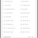 Order Of Operations Worksheet | Order Of Operations