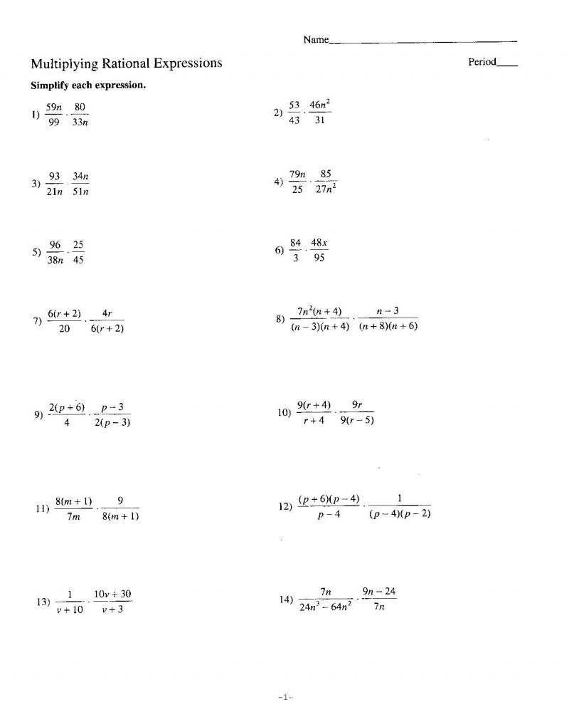 Printable 7Th Grade Advanced Math Worksheets In 2020
