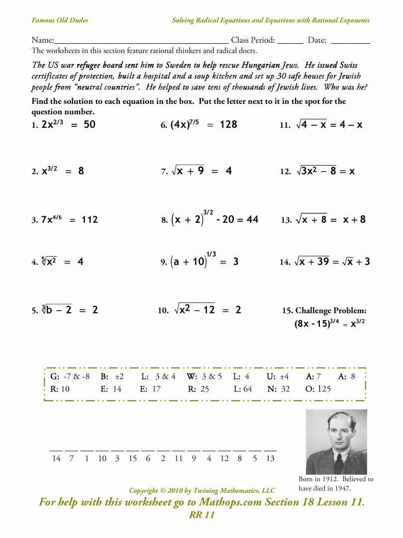 Simplifying Radical Expressions Worksheet Answers Best Of
