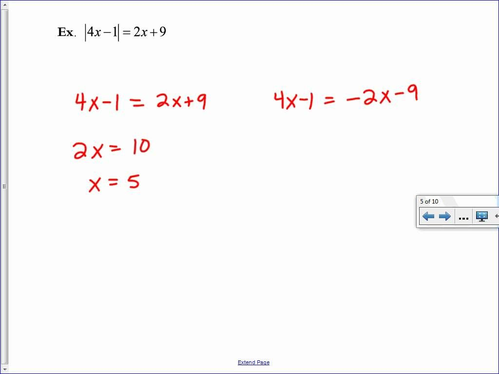 Solving Absolute Value Equations And Inequalities | Absolute