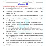 Solving Equations Word Problems Worksheet In 2020 | Word