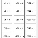 Square Root Worksheets | Math Worksheets, Square Roots, Math