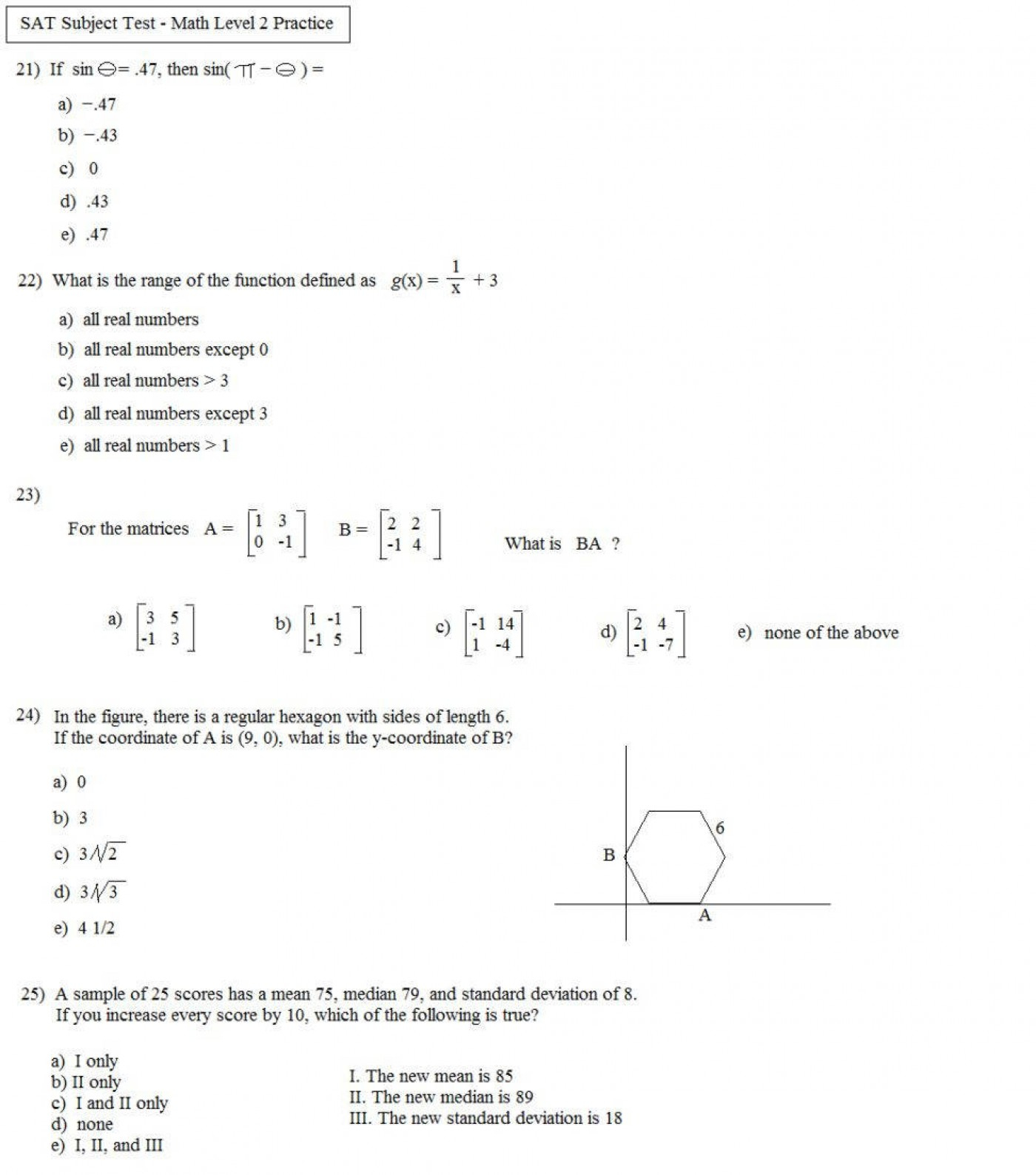 Standard Deviation Worksheets With Answers   Printable