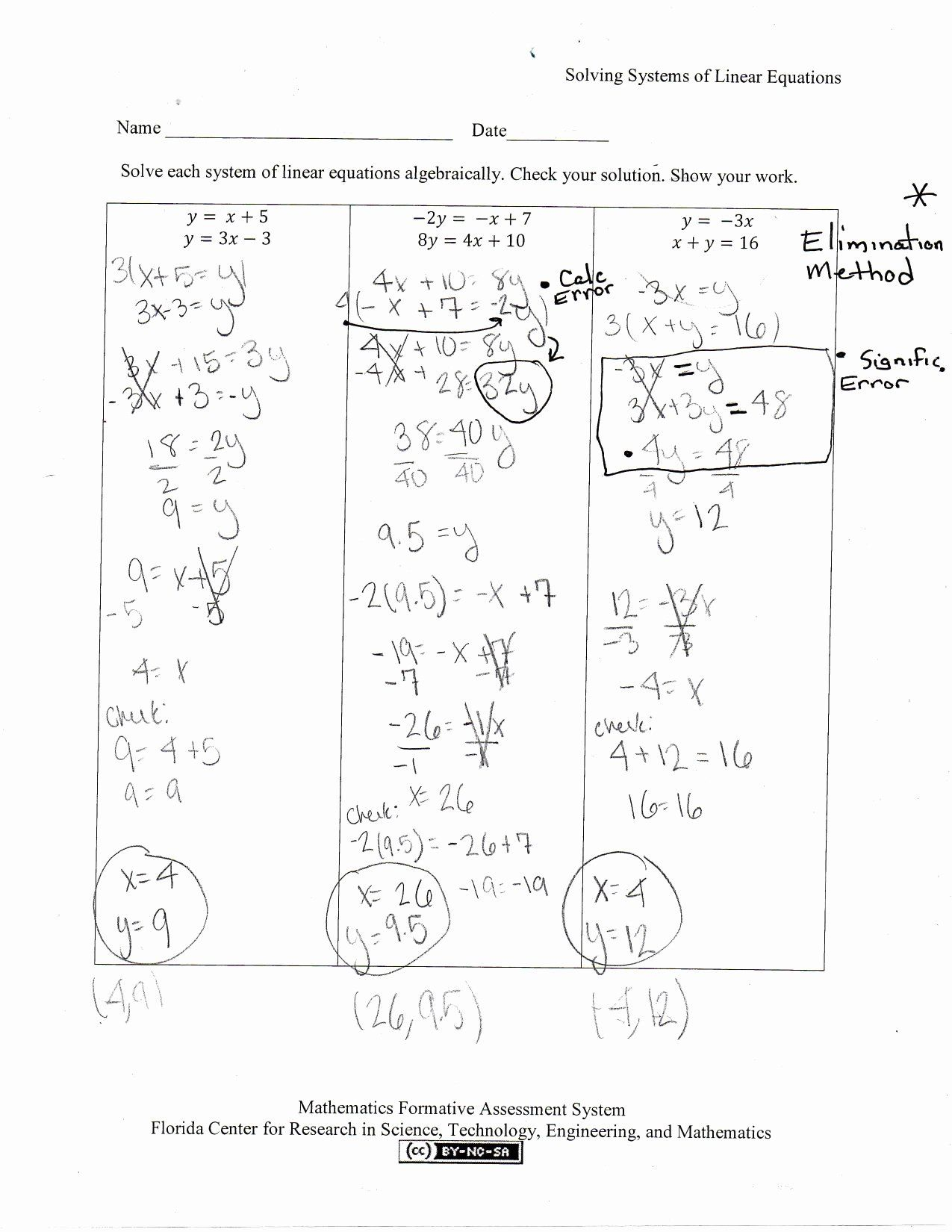 Systems Of Equations Activity Worksheet Beautiful Solving