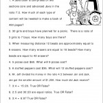 Topic : Ratio And Proportion Word Problems- Worksheet Girls