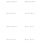 Worksheet Factoring Trinomials Answers - Promotiontablecovers
