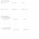 Worksheet On Factoring | Printable Worksheets And Activities