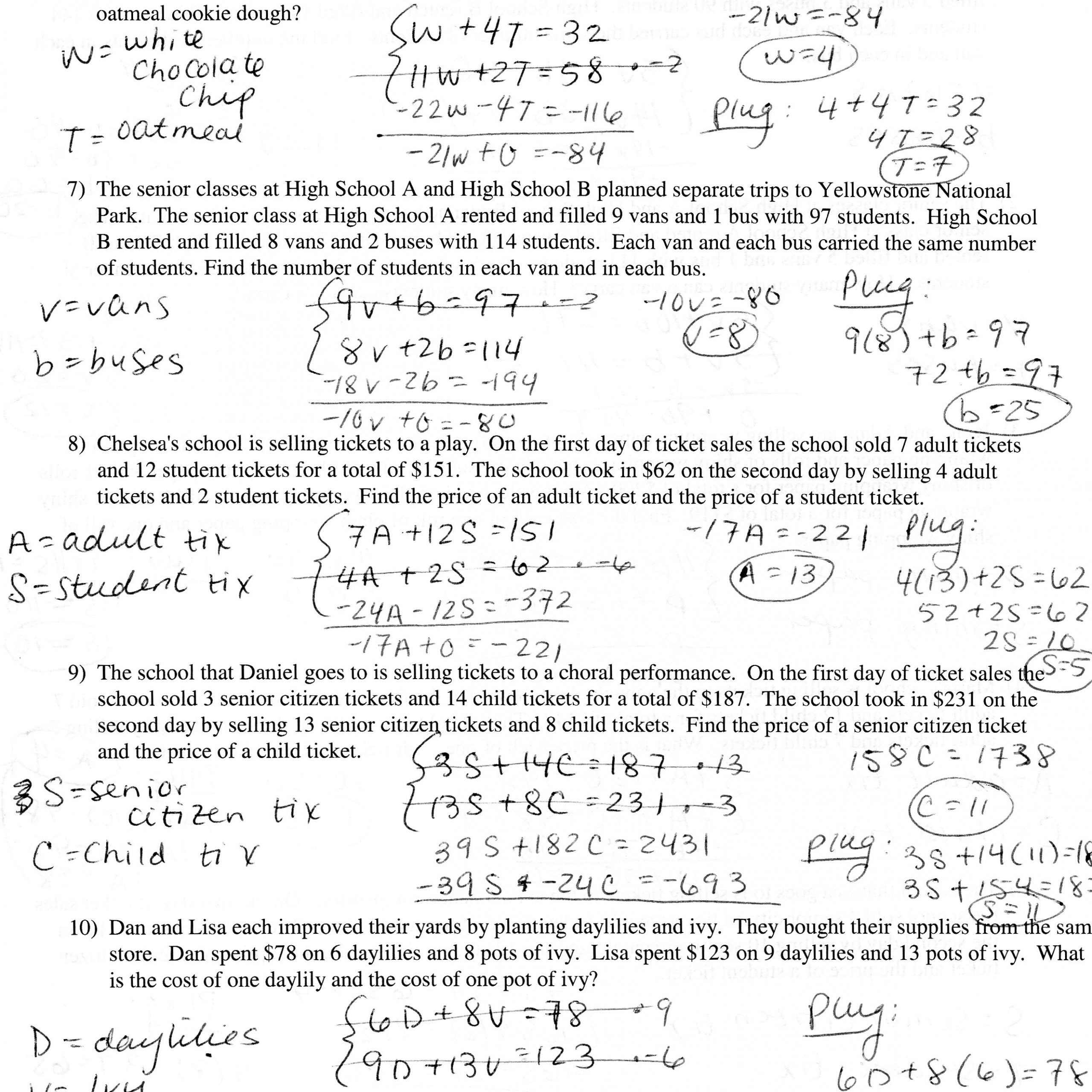 Writing Linear Equations Worksheet Word Problems   Kids