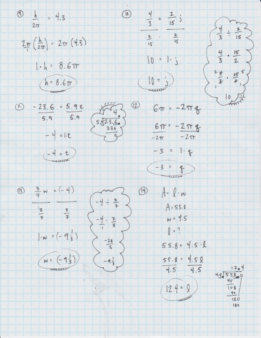 Yesterday's Work: Unit 2 - Balancing Linear Equations - Have