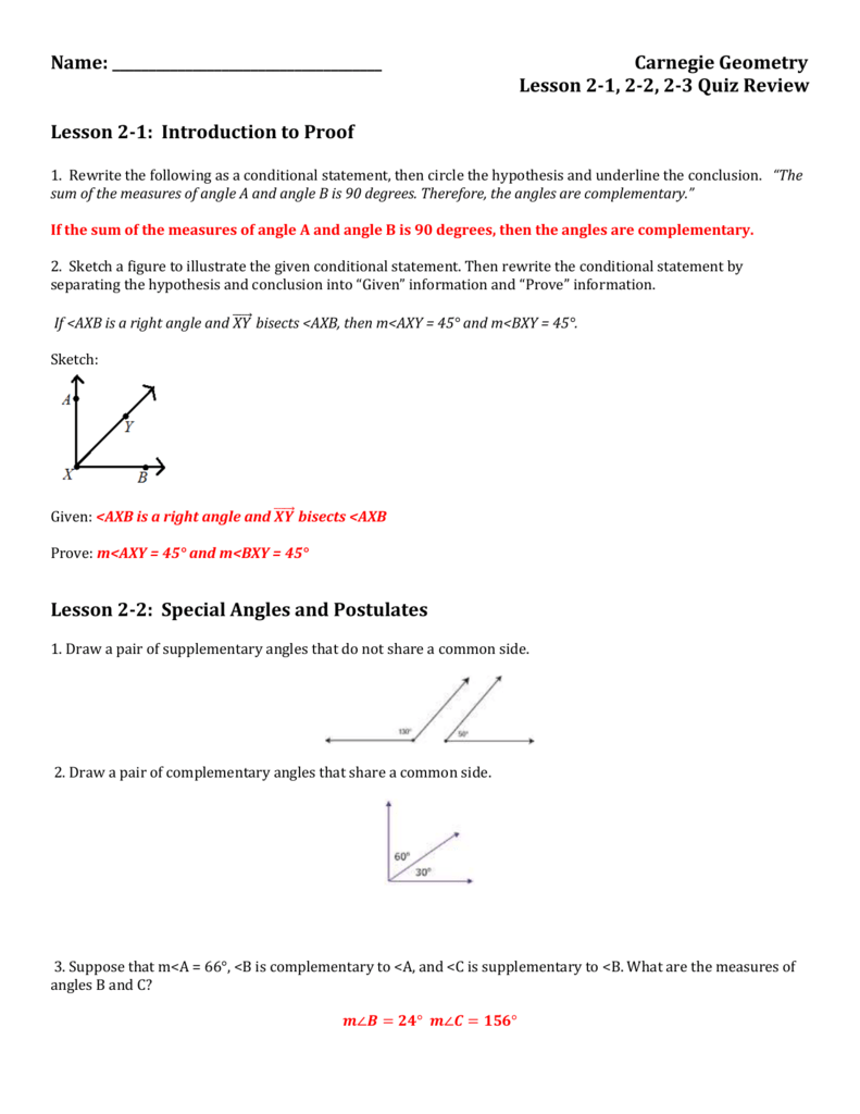 2.1, 2.2, 2.3 Quiz Review Answer Key