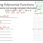 2019/2020 Uhs Gribmath - Week 2 - Graphing Polynomial Functions