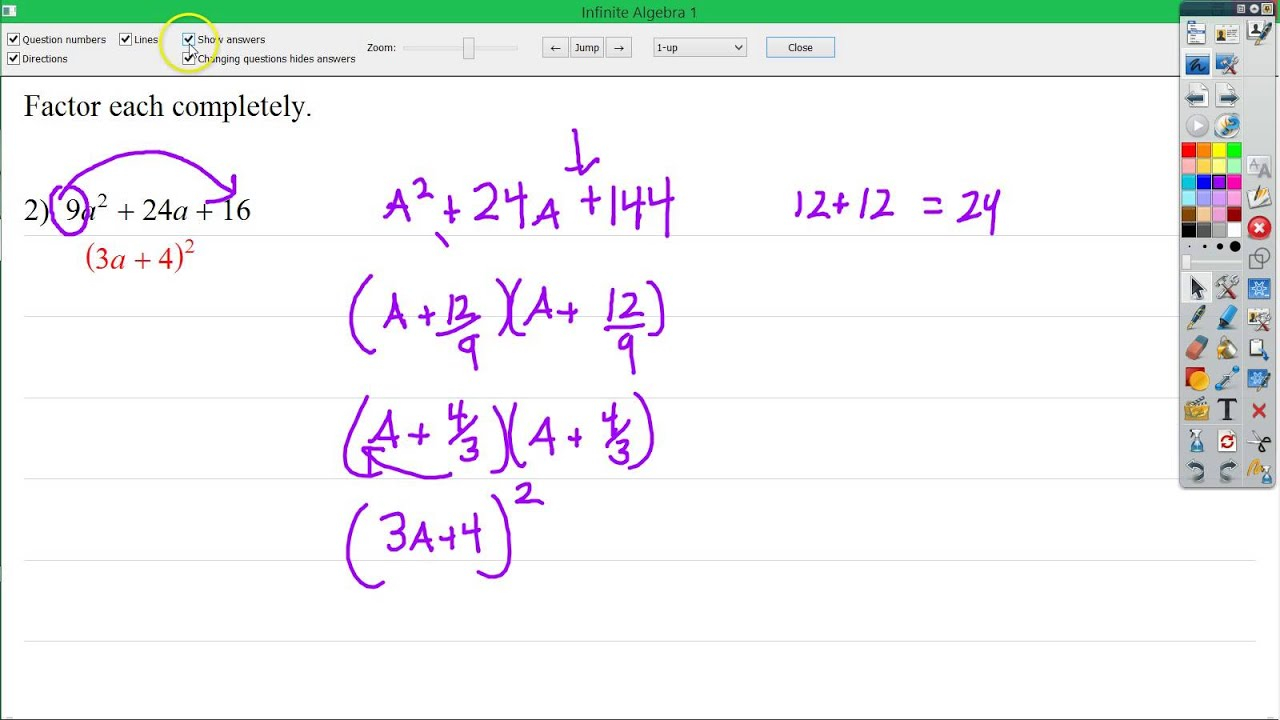 32 Factoring Special Cases Worksheet Answers - Free