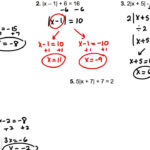 Absolute Value Equations And Inequalities Worksheet With