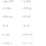 Adding And Subtracting Rational Expressions Worksheet | Kids