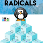 Algebra Simplifying Radicals With Variables Puzzle +