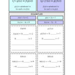 Composition Of Functions Notes Worksheet